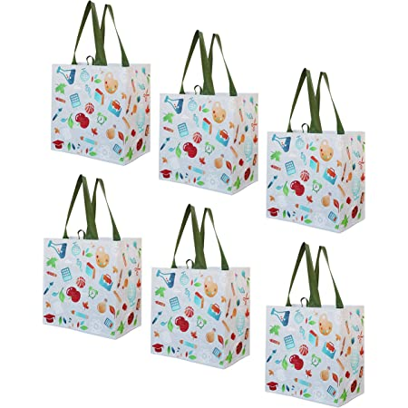 Dog Days of Summer Double Haul It All Market Basket Grocery Tote Picnic Basket Reusable Grocery Bag Toy Storage Bags