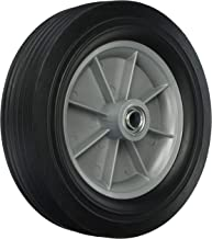 Shepherd Hardware 9653 12-Inch Hand Truck Replacement Wheel, Solid Rubber, 2-5/8-Inch Ribbed Tread, 3/4-Inch Bore Centered Axle