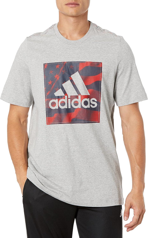 adidas Men's Americana Cotton T-Shirt Limited time sale Bargain sale Graphic