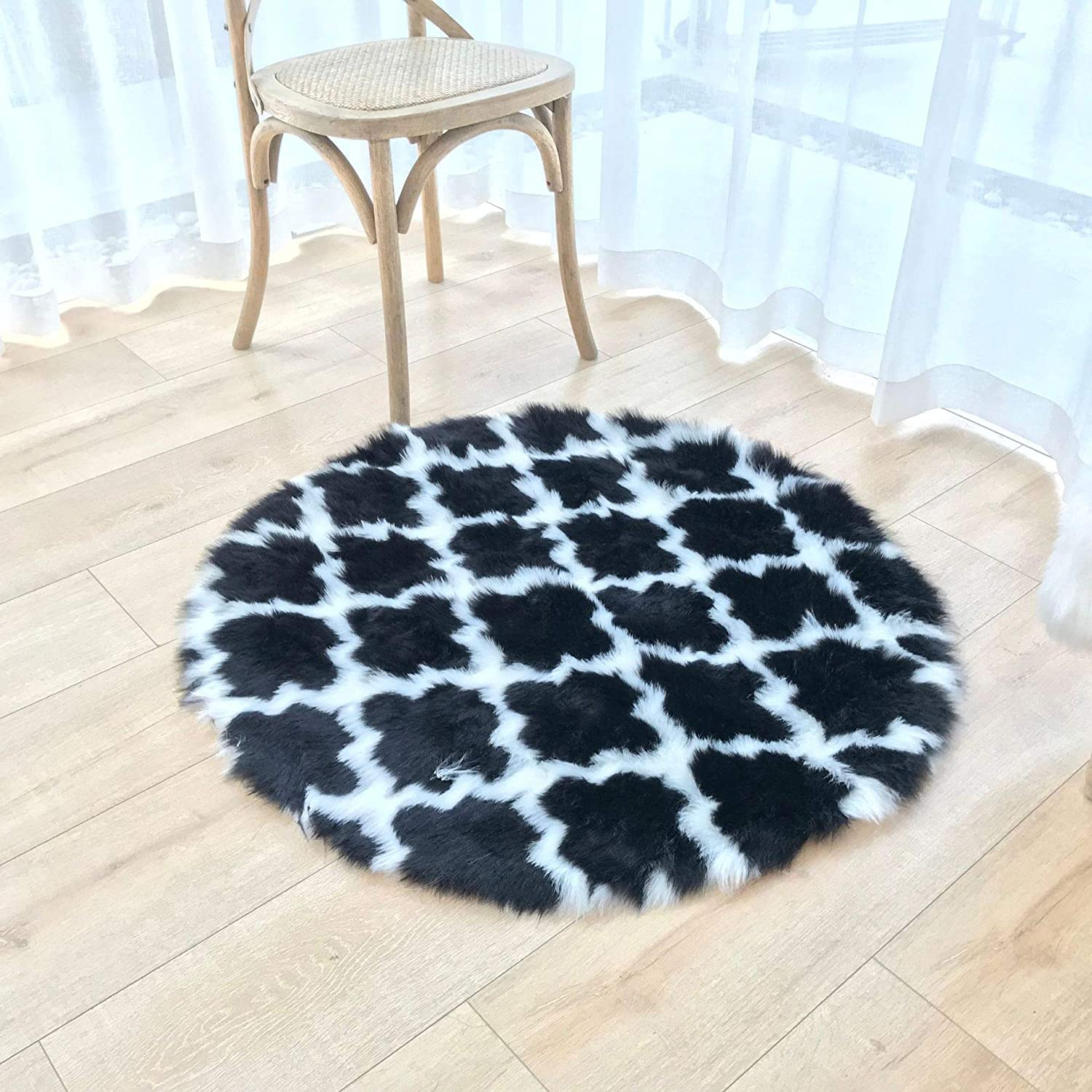 Living Artist Premium shipfree Lantern Decoration Soft She Fur Round All items in the store Faux