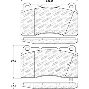 StopTech 308.08480 Street Brake Pads 5 Pack