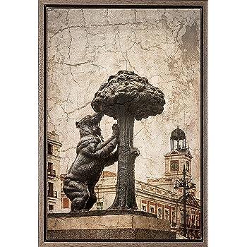 TEXFOTO Cuadro Enmarcado - Oso y madroño en Madrid- Fotografía ...