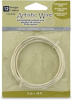 Artistic Wire 12S Gauge Wire, Tarn Resist Silver, 10-Feet