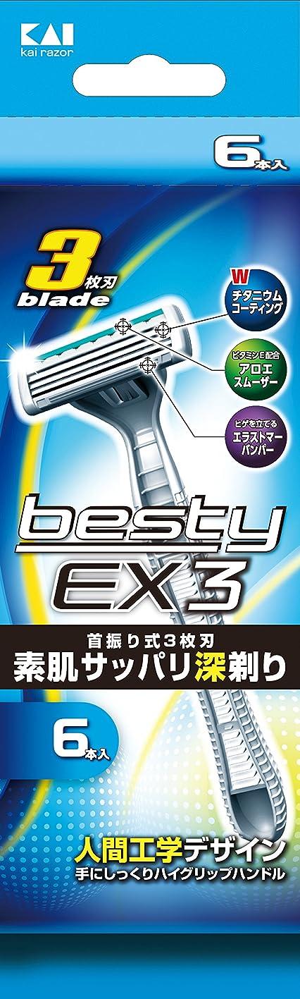 嵐のレジ示す貝印 ベスティーEX3 6本入