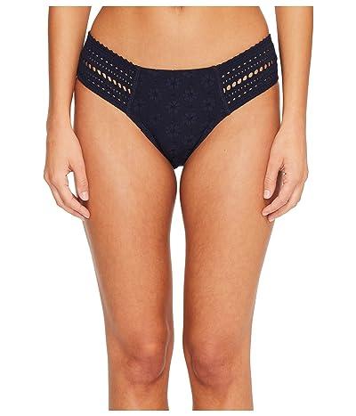 Robin Piccone Clarissa Tab Side Crochet Bikini Bottom (Midnight Navy) Women