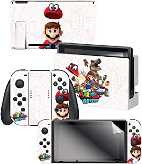 "Controller Gear Nintendo Switch Skin & Screen Protector Set, Officially Licensed By Nintendo - Super Mario Odyssey ""Captur..."