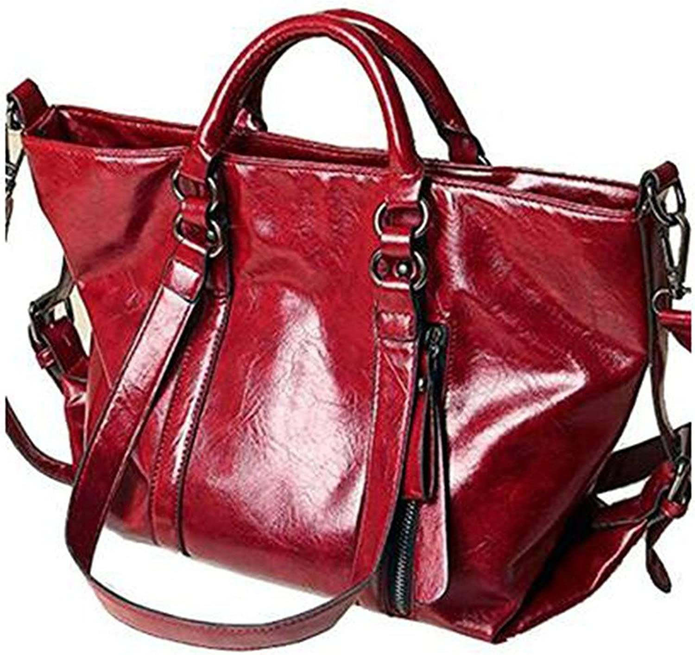 Dapengzhu Retro Style Wax oil Cowhide Shoulder Bag Cross Body Bag Tote Handbag for Women Hot sell
