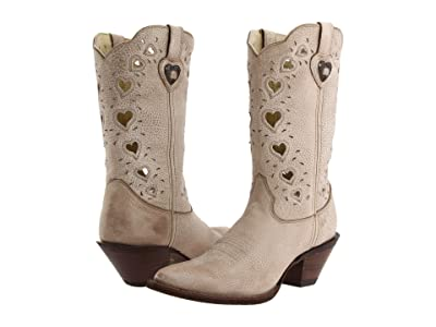 Durango Crush Heart (Light Taupe) Cowboy Boots