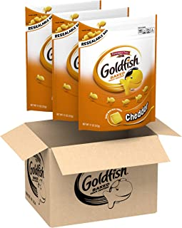 Pepperidge Farm Goldfish Cheddar Crackers, 11 Ounce Resealable Bag, (Pack Of 3)