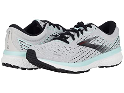 Brooks Ghost 13 (Grey/Fair Aqua/Black) Women