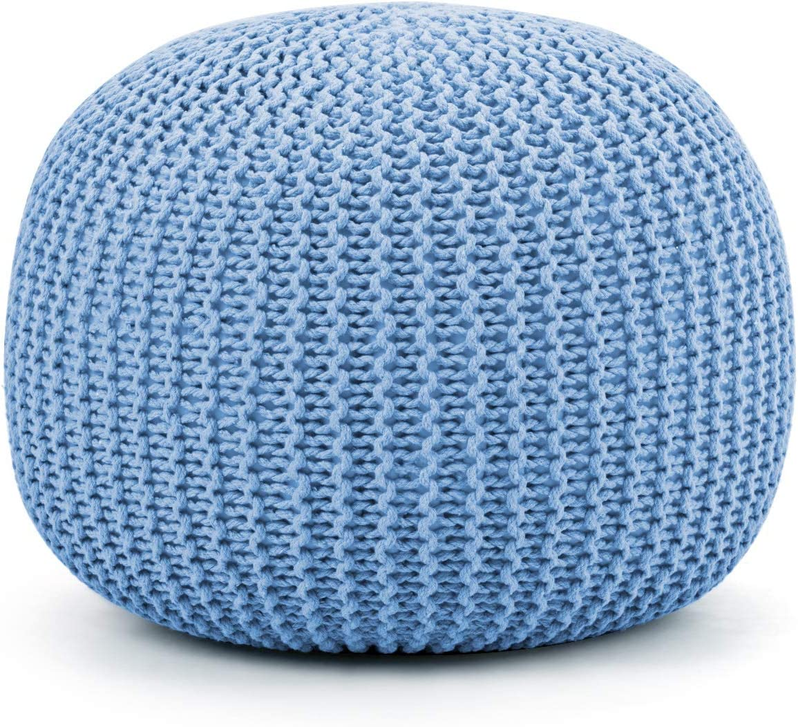 Giantex Pouf Round Knitted Hand Max Max 70% OFF 49% OFF Dori Cable C Handmade W