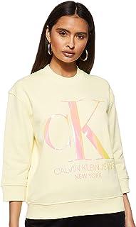 Calvin Klein Jeans Women's Iridescent Monogram Crew Neck Knitwear
