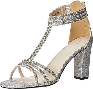 Touch Ups womens Gabriella Heeled Sandal, Silver, 7.5