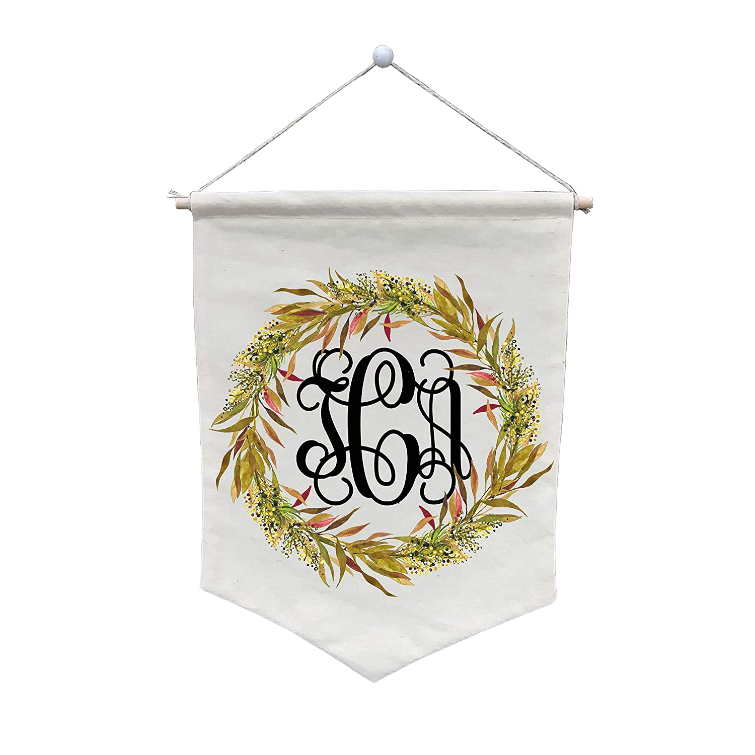 Floral Wreath Bouquet Monogram Wall - WB237 Credence Customize Banner Brand new