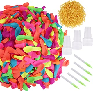 1000 Pieces Water Balloons with Refill Kits Latex Water Ballons for Water Fight Games Summer Splash Fun for Kids and Adults Assorted Colors Aprince