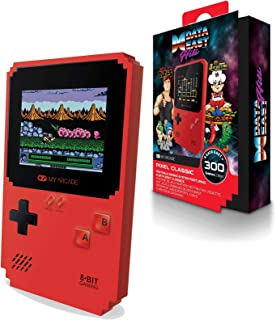 My Arcade Pixel Classic - Handheld Gaming System - 300 Retro Style Games Plus 8 Data East Classics - Lightweight Compact Size - Battery or Micro USB Powered - Full Color Display - Headphone Jack