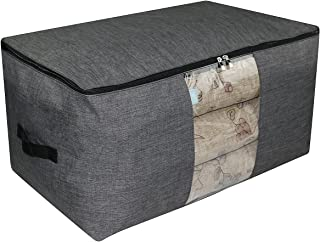 iwill CREATE PRO Over-Size Special Material Storage Box for Wardrobe Organizer, Seasonal Clothes, Sweaters, Sheet Sets etc. 25.6X15.7X13.8, Dark Gray