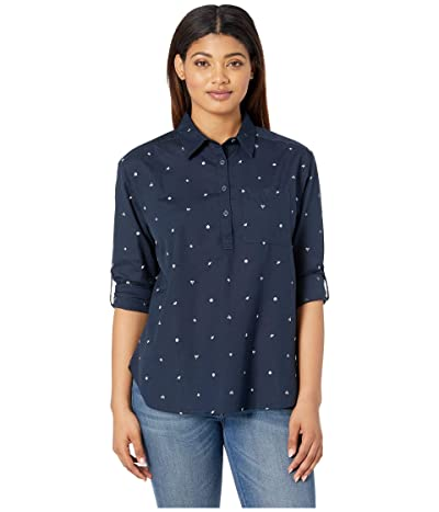 The North Face Long Sleeve Bayward Shirt (Urban Navy Outdoor Print) Women