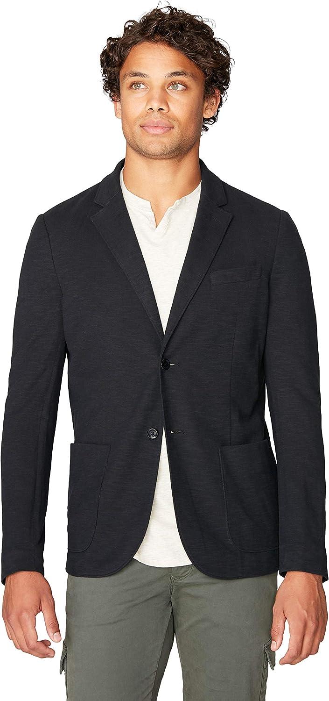 Good Man Brand Men's Soft Slub Jersey Casual Blazer