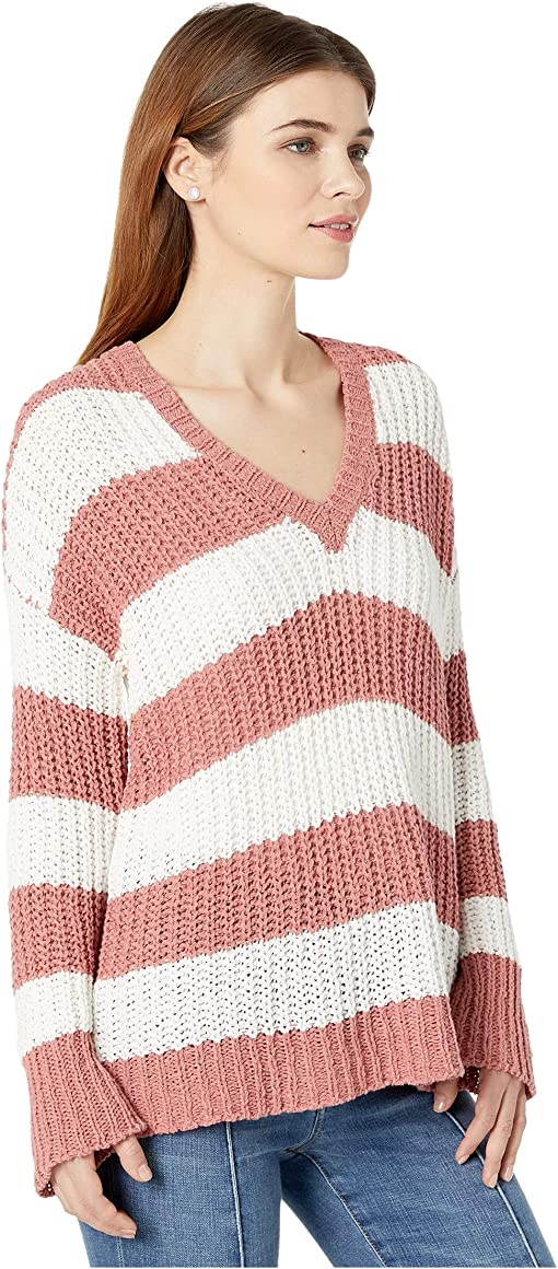 Mauve Stripe Knit