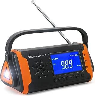 ソーラー手回し乾電池USB充電防災ラジオ4000 MAH大容量phone充電SOS警報台風、津波、地震