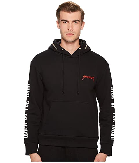 with Black Hoodie Detailing The Kooples Sweatshirt Zip wqZIxzUH