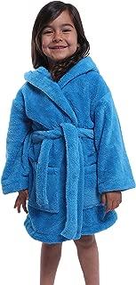 Bagno Milano Kids - Unisex Hooded Plush Bathrobe – 100% Micro-Fleece Warm and Soft – Girls - Boys Robe, Made in Turkey