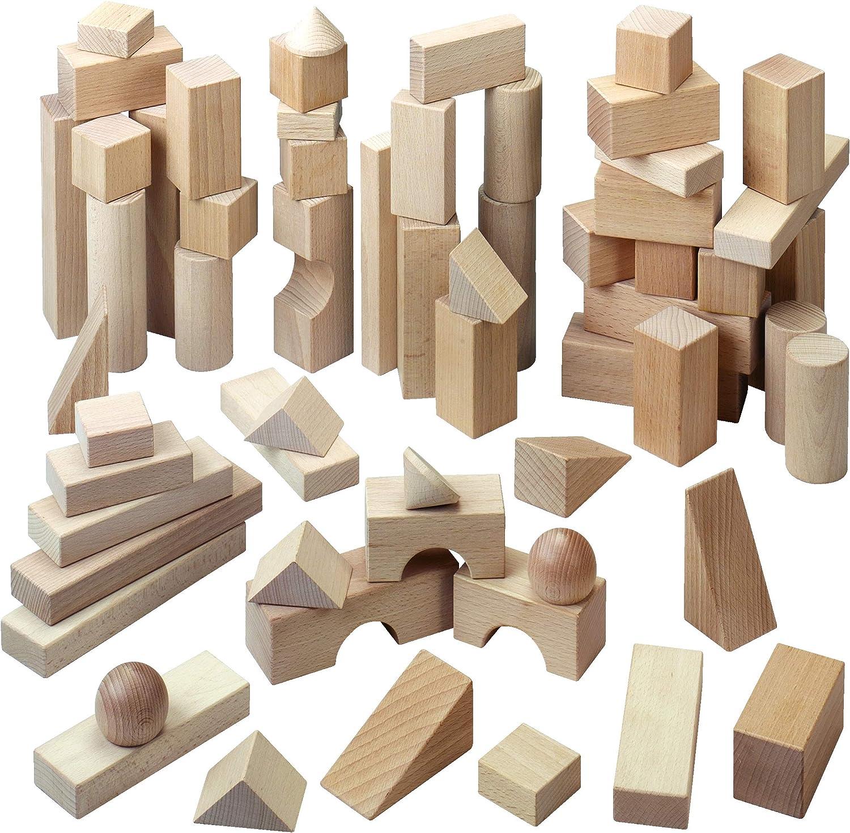 HABA Basic Building San Francisco Mall Blocks 60 Piece Manufacturer direct delivery Starter Set in G Large Made
