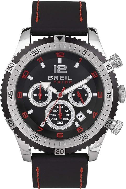 orologio uomo breil collezione race watches movimento chrono quarzo e cinturino in poliuretano da uomo ew0490