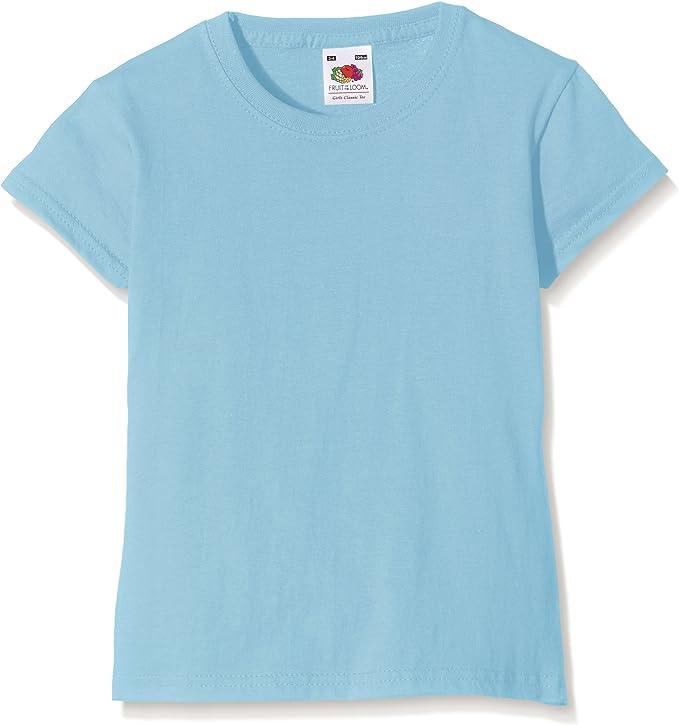 White 3-4 Years UK FRUIT OF THE LOOM Boys Valueweight Short Sleeve T Shirt