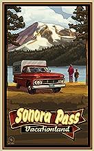 لوحة فنية شمال غرب Mall Sonora Pass vacationland Pickup و Mountain العمل الفني من Paul A. lanquist, 13بواسطة 17بوصة