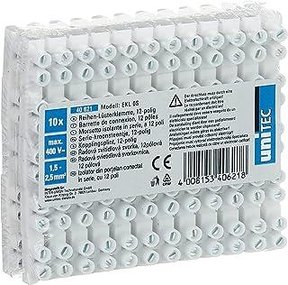 UNITEC Kroonklem 10 stuks   12 polig   tot 380 volt inzetbaar   1,0-4,0 mm²   transparant