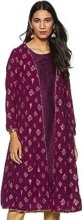 Rangriti Women's Linen a-line Kurta