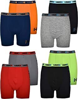 Tony Hawk Boys' Boxer Briefs 8-Pack Performance Dri Fusion Tech Compression No Fly Underwear