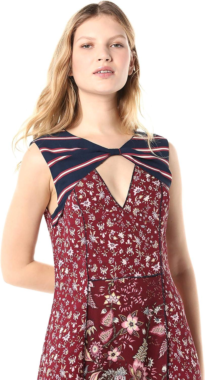 BCBGMAXAZRIA Womens Mixed Print Asymmetric Dress