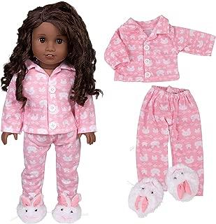 Dress Along Dolly Bunny Doll Pajamas for 18