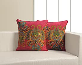 ShalinIndia Printed Cushion Cover Set With 2 Throw Pillow Covers Cotton Poplin Fabric 18x 18 Inch