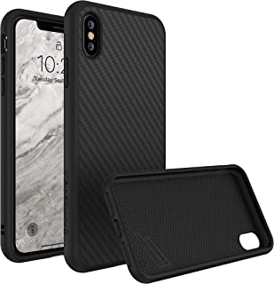 RhinoShield Full Impact Protection Case for [ iPhone X ], SolidSuit Series, Military Grade Drop Protection, Supports Wireless Charging, Slim, Scratch Resistant - Carbon Fiber Texture