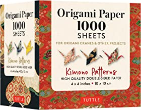 Origami Paper 1,000 Sheets Kimono Patterns 4 (10 CM): Tuttle Origami Paper: High-Quality Double-Sided Origami Sheets Print...