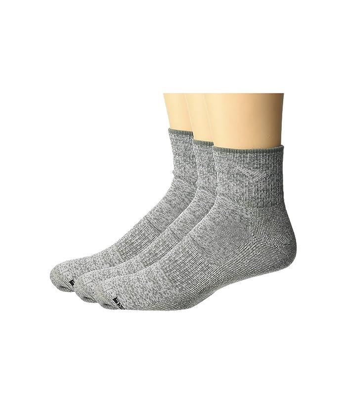 Drymax Run Thin 1//4 Crew Socks Black 3 Pair