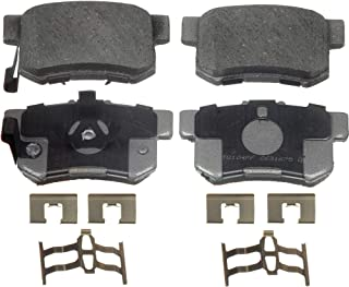 Wagner ThermoQuiet PD1086 Ceramic Disc Pad Set With Installation Hardware, Rear