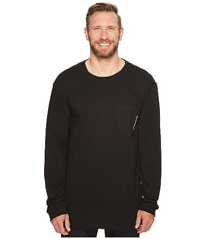 Timberland PRO Extended Base Plate Blended Long Sleeve T-Shirt with Logo (Jet Black) Men
