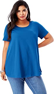 Women's Plus Size Swing Ultimate Tee with Keyhole Back