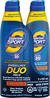 Coppertone Sport Continuous Spray Sunscreen Spf30 Duo Pack 1.12-Pounds