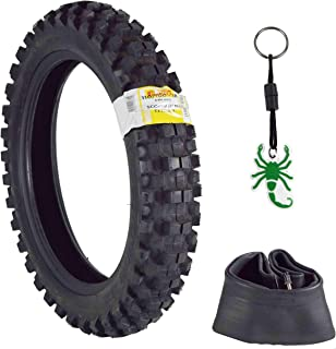 Pirelli Scorpion MX32 Extra X Dirt Bike 110/100-18 64M Rear Motorcycle Tube Type Tire w Inner Tube and Authentic Pirelli Scorpion Key Chain