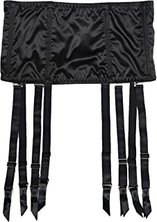 Women Stain 8 Straps Black Removable Metal Buckles Sexy Garter Belt for Stockings Fishbone Waist Trainer S5078S