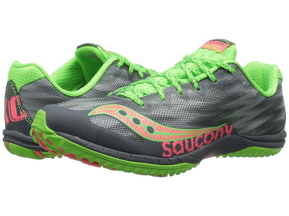 Saucony Kilkenny XC5 (Flat) (Grey/Slime/Pink) Women