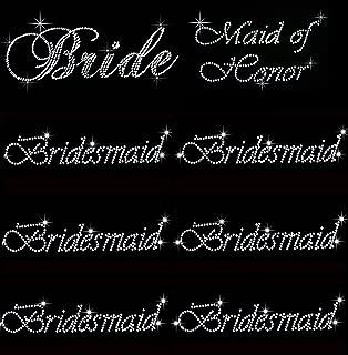 bridesmaid iron on decal