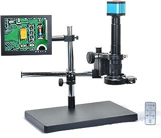 Aihome 14MP HDMI HD USB Digital Industry Video Microscope Camera Set+Big Boom Stand Universal bracket +300X C-MOUNT Lens+144 LED Light + 8