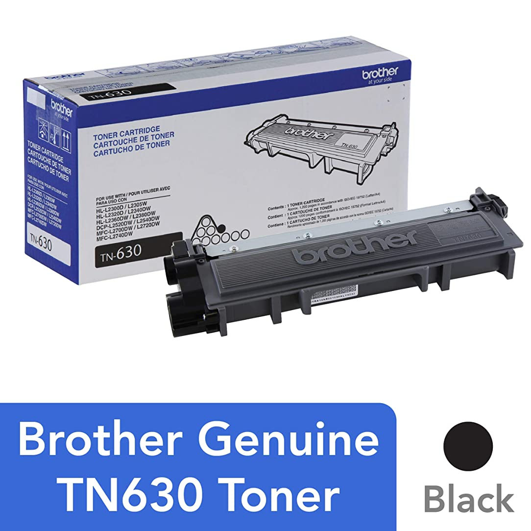 Brother Genuine Standard Yield Toner Cartridge, TN630, Replacement Black Toner, Page Yield Up To 1,200 Pages, Amazon Dash Replenishment Cartridge jaz61491685